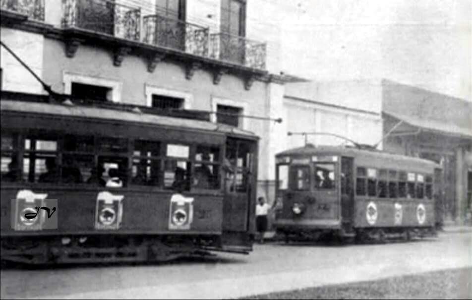 El Tranvía en San José, Avenida Central entre Calles 4 y 6, frente al Parquecito Castro Madriz, antiguamente llamado Pasteur.