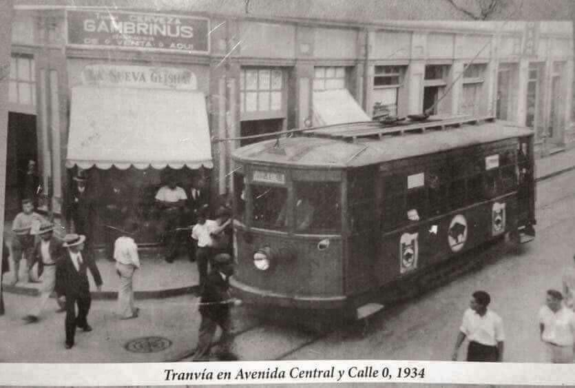 Avenida Central, Calle 0, 1934.