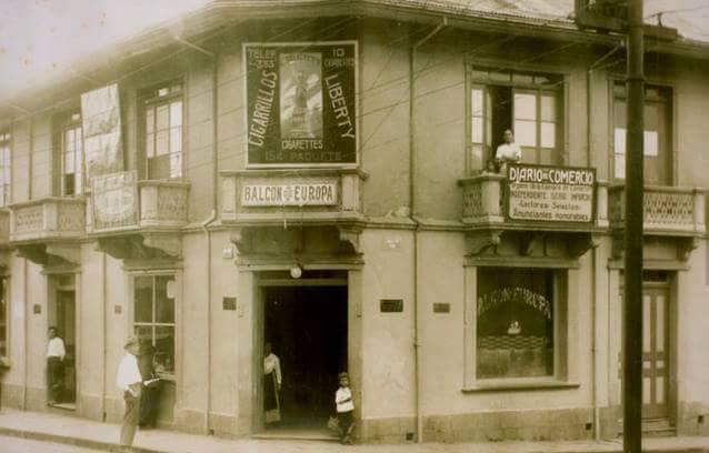 El Balcón Europa, almacén de viveres, propiedad de españoles de apellido Fuscaldo, Ave. central, calle 7, frente hotel balmoral