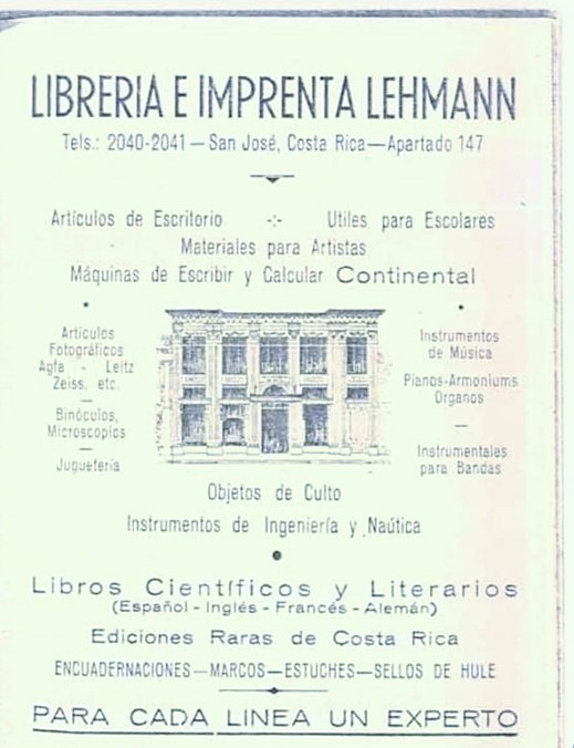 Libreria Lehmann, guia c. 1940