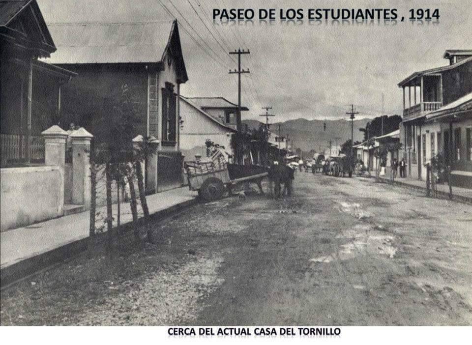 Paseo de los estudiantes, 1914