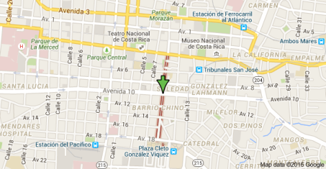 paseo Estudiantes map