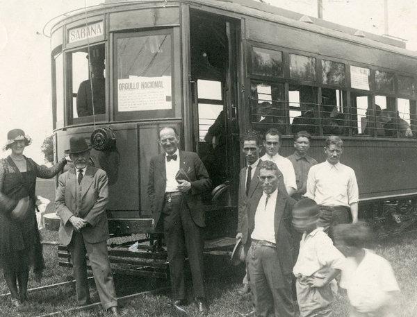 Ruta a la sabana a inicios del siglo XX.