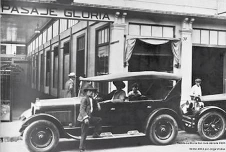 Vehículo en el Pasaje La Gloria, San José