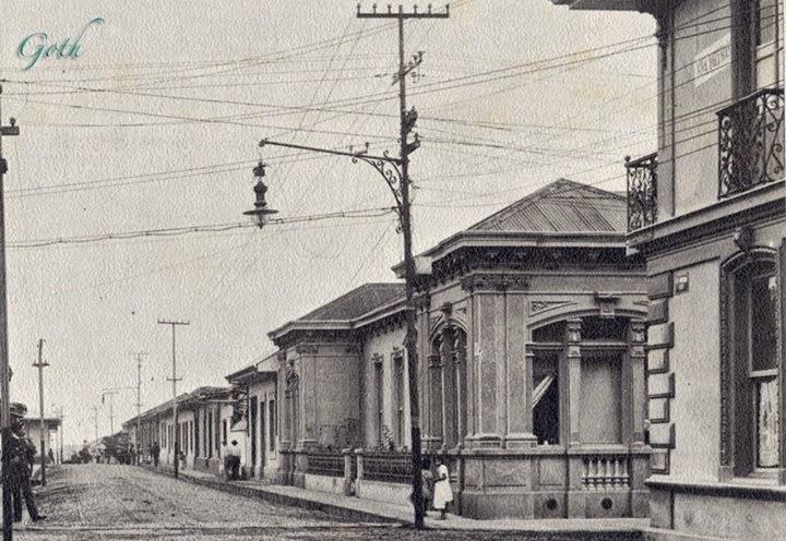 Barrio La Dolorosa, 1917, Calle central entre Ave 6 y 8