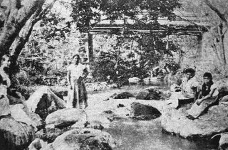 Los lavaderos, río Torres, Abril, 1904