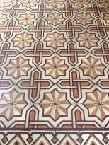 Piso de mosaico decorativo