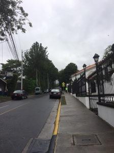 Calles aledañas a la iglesia