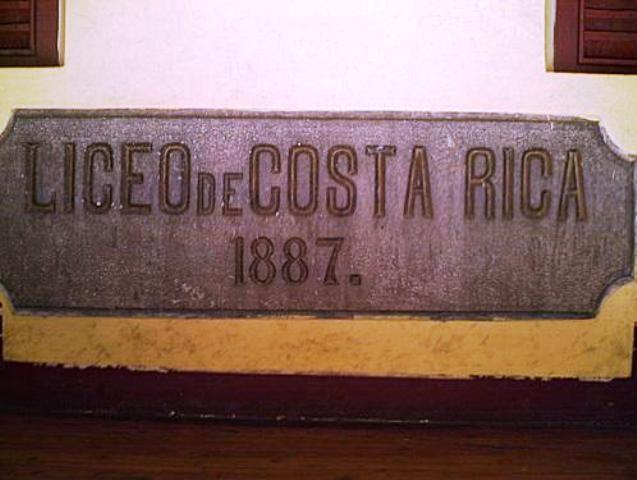 liceo Costa Rica 1887