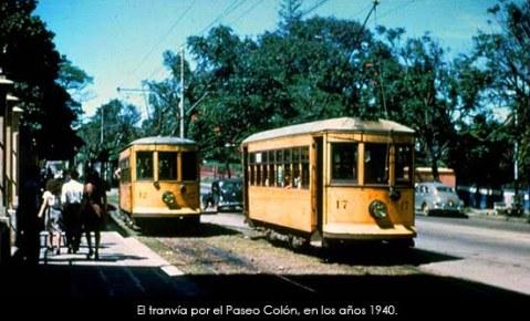 El Tranvía en Paseo Colón, 1940