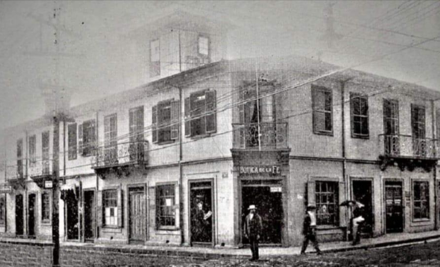 Botica de la Fé, S.J. 1916, Edificio Comercial Atmetlla de los Hermanos Agustín Atmetlla y Oroni, libro azul.