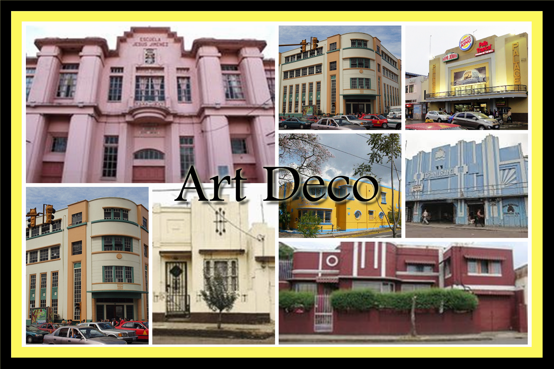 art deco collage