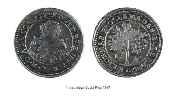 moneda de 1847 real de plata imagen india joven