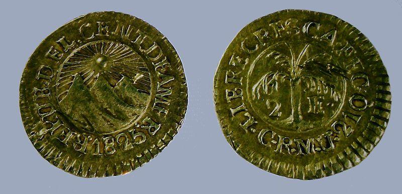primera moneda acuñada en cr