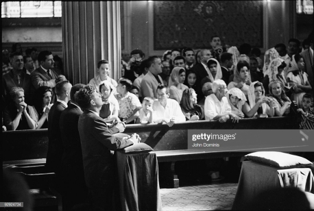 COSTA RICA - MARCH 01: Pres. John F. Kennedy (L) , kneeling and praying while at mass, during his tour of San Jose. (Photo by John Dominis/The LIFE Picture Collection/Getty Images)