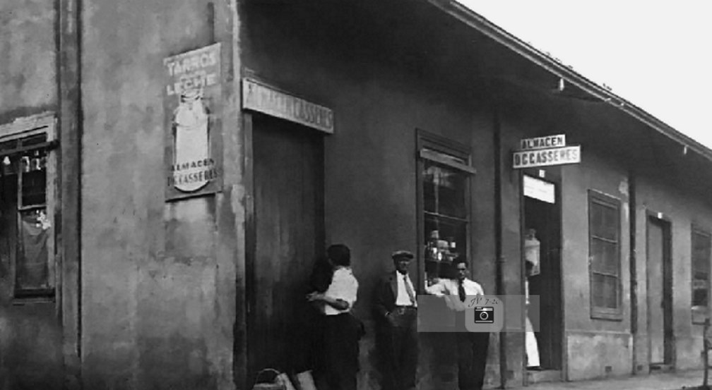 Almacén Casseres a la entrada del Pasaje Jiménez, 1932, Jorge Arturo Vindas.